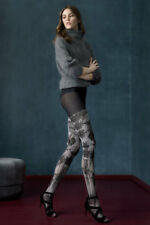 FIORE MELANCHOLIA 3D MICROFIBER TIGHTS PANTYHOSE BLACK AND GRAY 3 SIZES