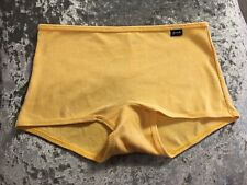 NEW Genuine PINK Victoria's Secret Yellow Ribbed Boyshort/Boxer Size S UK 8-10