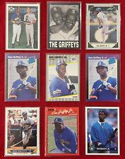 Ken Griffey Jr. Rookie Baseball 9 Cards Fleer Donruss RC Lot Seattle Mariners🔥
