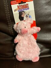 Kong Low Stuff Tuffluxe Pig Small Dog Toy  Squeaks