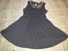 monteau dress sequin collar dark gray M