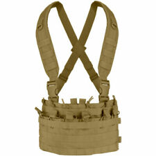 Condor Mcr6 Rapid MOLLE Assault Chest Rig Vest 6 Open-top 5.56mm Mag Pouch Brown