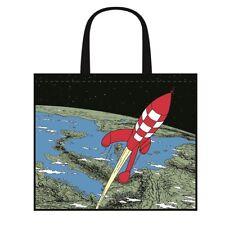Tim und Struppi : Mondrakete : Beutel, Tasche, Einkaufsbeutel mit Rakete, neu