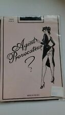 AGENT PROVOCATEUR BLACK FULLY FASHIONED STOCKINGS SIZE A SMALL BNIP