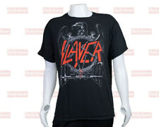 Slayer T-shirt Black Heavy Metal Slayer Shirt Short Sleeve Rare Band T-shirt
