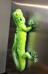 "Vintage Imperial Iguana Lizard Rubber 9"" Hollow Figurine Green"