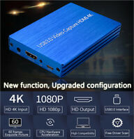 4K HDMI to USB 3.0 Video Capture Box Dongle 1080P FHD 60fps HD Video Recorder B2