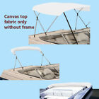 """Bimini Top Boat Cover Canvas Fabric White with Boot Fits 3BOW 72""""L 46""""H 54""""-60""""W"""