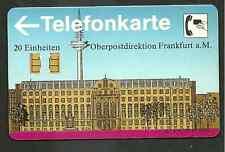 Telefonkarte V 27 ( V11 ) xx 20 Einheiten voll Tk OBERPOSTDIREKTION Ffm  !!
