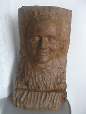 ancient wooden sculpture 18th century or beginning 19th