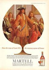 1966 Martell Cognac Brandy Vintage Bottle Lousi XIV PRINT AD