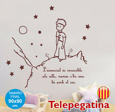 VINIL INFANTIL PARET-EL PETIT PRÍNCEP-90x90-ENVIAMENT GRATIS-PRINCIPITO CATALÀ