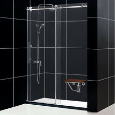 "DREAMLINE 56""-60"" x76 ENIGMA-X FRAMELESS SLIDING SHOWER DOOR 3/8"" GLASS BRUSHED"