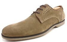 John Varvatos Men's Suede Leather Lace Deck Oxfords Shoes Size 11.5 Clay Brown