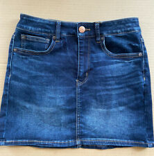 American Eagle Stretch Denim Hi-Rise Mini Skirt Size 2 Short