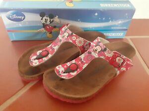 Birkenstock Gizeh Gr. 32 Disney Minnie Flowers Red Mouse Sandalen Zehentrenner