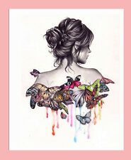 Girl Back DIY 5D Embroidery Diamant Sticker Cross Stitch Painting Home Dekor