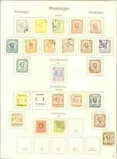 MONTENEGRO 1874/1913 STAMPS -- MOST 0/* --F/VF
