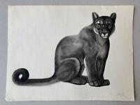 Georges Lucien GUYOT LITHOGRAPHIE Puma Panther Panthère Esprit Paul Jouve