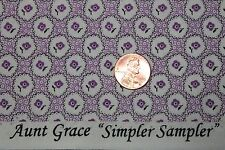 """AUNT GRACE """"SIMPLER SAMPLER"""" QUILT FABRIC CIRCA 1930's BTY FOR MARCUS 5875-0335"""