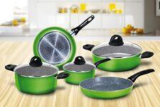 Batteria pentole induzione 8 pz Aeternum Bialetti Simplicity verde padelle Rotex