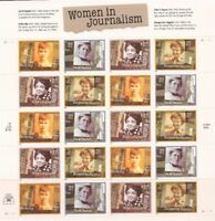 US Stamps - 2002 Women in Journalism - 20 Stamp Sheet - Scott #3665-8
