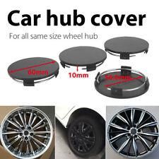 Wheel Center Cap Premium 4Pcs No Logo Black for 60mm-56.8mm Automobile