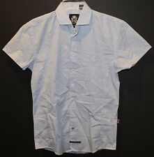 English Laundry Mens Light Blue Shapes S/S Button-Front Shirt NWT $79 Size S