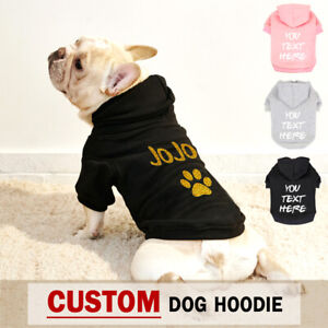 Cute Personalized Dog Cat Hoodie Name Number Custom Clothes for Small Large Dogs