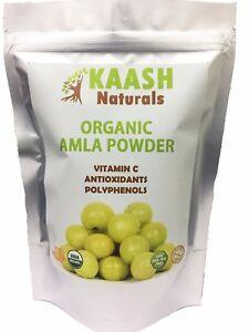AMLA (Amalaki) Gooseberry POWDER, 100% Raw from India,USDA Certified Organic
