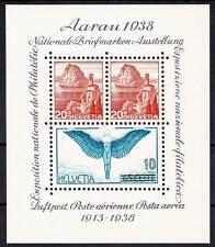 Schweiz 1938 Aarau-Block, Nr. Bl. 4 **