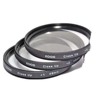 Kood 49mm Macro Close-Up Filter Set +1 +2 +4 +case Digital & Film Cameras JAPAN.