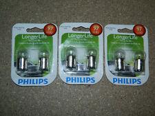 (3) NEW PACKS OF 2 PHILIPS LONGER LIFE 97 TAIL LIGHT BULBS 97LLB2 SIDE MARKER