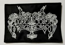 enslaved white logo     EMBROIDERED  PATCH