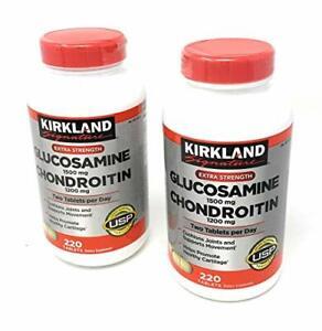 [2-Pack] Kirkland Signature Extra Strength Glucosamine 1500mg/Chondroitin...