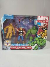 2010 Marvel Universe 3.75 Classic Avengers THOR IRON MAN HULK ANT-MAN WASP
