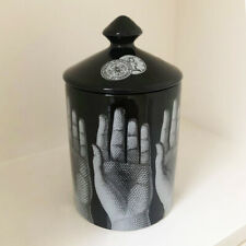 Fornasetti Mani Ceramic Lidded Vessel Pot Jar