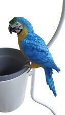 Parrot Macaw Bird Rosella Pot Hanger Ornament Sculpture Home Garden *23 cm*