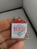 Vintage Department 56 Home for the Holidays pin button pinback Rare *ff3