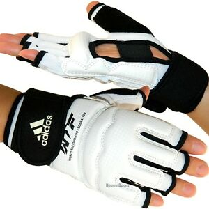 New adidas Taekwondo Hand Protector Gloves MMA Karate Sparring Gear-WTF Approved