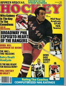 1980 Sports Special Hockey magazine Phil Esposito New York Rangers, DIonne VG