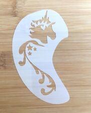 Face paint stencil reusable washable unicorn face and cheek c.11 cms x 7 cms