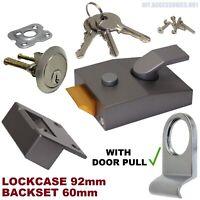 Door Pull Chrome 3 Key Rim Cylinder Satin 92mm Case Night Latch Y 89