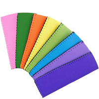 24PCS Ice Pop Sleeves Popsicle Holders Bag Neoprene Fabric 8 Colors Antifreezing