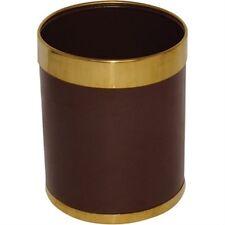 Bolero Waste Paper Bin with Gold Rim Bin Dustbin Hotel Guest House B&B 10.2l