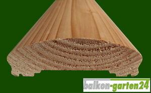 Handlauf für Holzbalkon, Balkongeländer - Länge 200 cm - Douglasie ähnl. Lärche