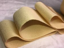 "10 yard roll 2"" gold vintage cotton rayon petersham ribbon millinery hat dress"