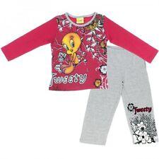 Pyjama coton TITI 4 ans Rose et gris NEUF TWEETY