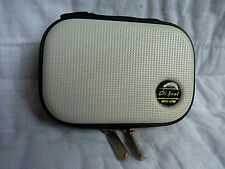 """New SANWA """"Di feel"""" Rugged White ABS Zippered Pouch Case For Camera or Phone"""