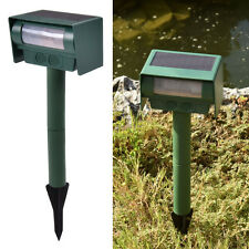 Solar Power Ultrasonic Pest Animal Repeller Repellent Sensor Detection Garden